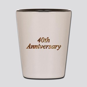 40th Wedding Anniversary Shot Glass
